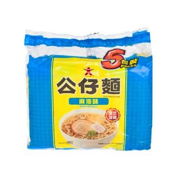 公仔 - 公仔麵-麻油味 - 100GX5