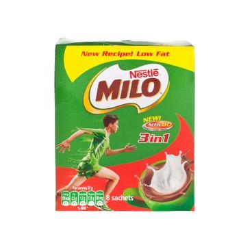 MILO - 3 IN 1 NUTRITIOUS MALT DRINK - 27GX8