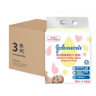 強生嬰兒 - 無香護膚柔濕巾 - 80'SX3