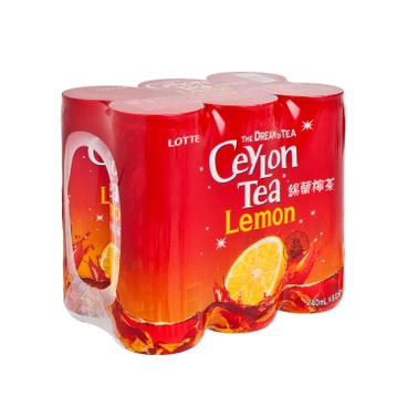 LOTTE - Ceylon Lemon Tea - 240MLX6
