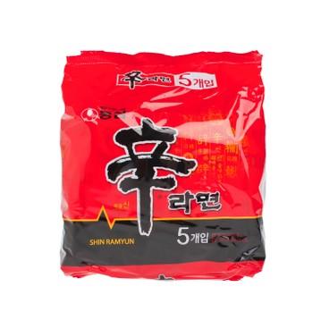 NONG SHIM - Korean Shin Ramen - 120GX5