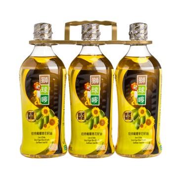 獅球嘜 - 初榨橄欖葵花籽油 - 900MLX3
