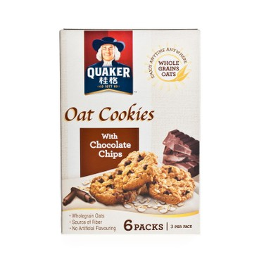 QUAKER - OAT COOKIES WITH CHOCO CHIPS - 27GX6