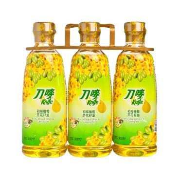 刀嘜 - 初榨橄欖芥花籽油 - 900MLX3