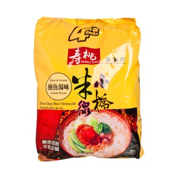 SAU TAO - Xiao Qiao Rice Vermicelli abalone Soup Flavoured - 215GX4
