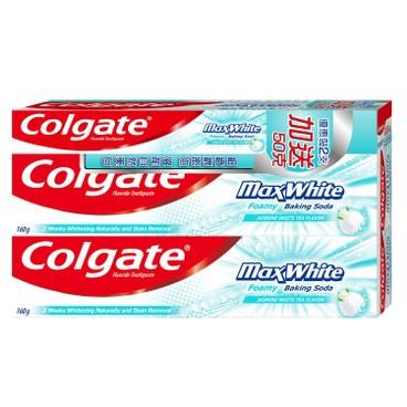 COLGATE - MAX WHITE TOOTHPASTE - 160GX2+50G