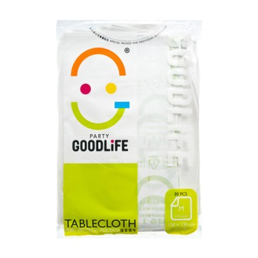 GOODLIFE - 51 Degradable Plastic Table Cloth - 30'S