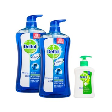 DETTOL - Body Wash twinpack With Random Premium active - 950MLX2