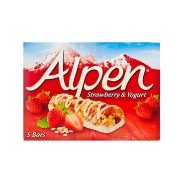 ALPEN - CEREAL BAR-STRAWBERRY & YOGURT - 29GX5