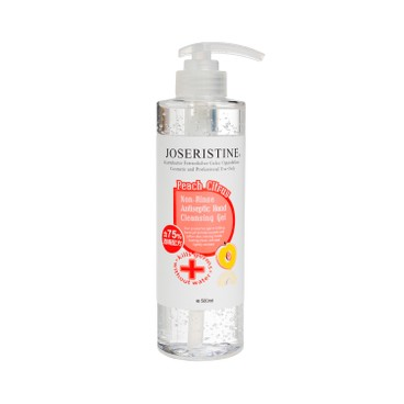 JOSERISTINE BY CHOI FUNG HONG - Non rinse Antiseptic Hand Cleasing Gel peach Citrus - 500ML