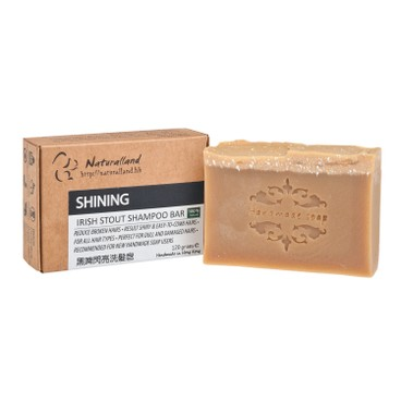 NATURALLAND - Shining irish Stout Hand Made Shampoo Bar - 110G