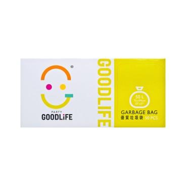 GOODLIFE - 50 l Degradable Black Garbage Bag - 50'S