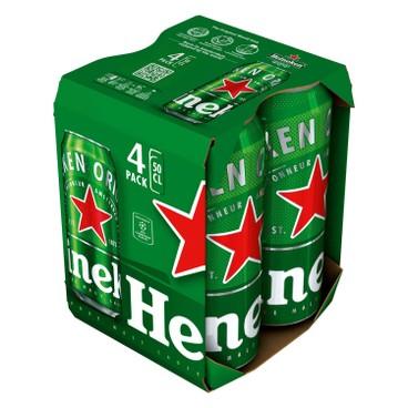喜力 - 啤酒(巨罐裝) - 500MLX4