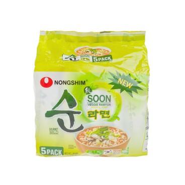 農心 - 純蔬菜麵 - 112GX5