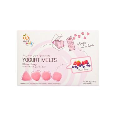 WEL-B - BABY 100% NATURAL YOGURT MELTS-MIXED BERRY - 7GX6