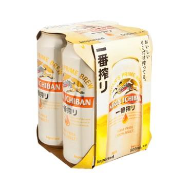 麒麟 - 一番搾啤酒 (巨罐裝) - 500MLX4