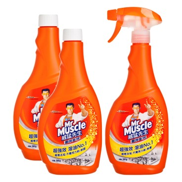 MR MUSCLE - Kitchen Cleaner Trigger Special Pack - 500GX3