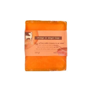 薑心比心 - (芳香淨白)甜薑丹橘薑園皂 - 110G
