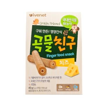 貝貝 - 糙米手指餅 - 芝士味 - 40G