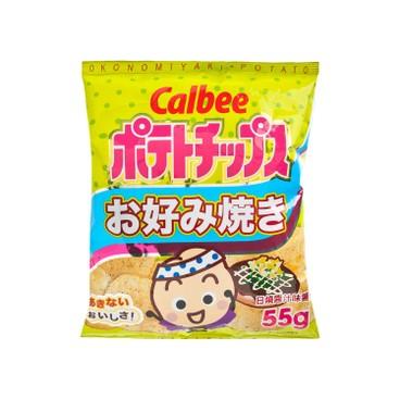 CALBEE - OKONOMIYAKI POTATO CHIPS - 55G