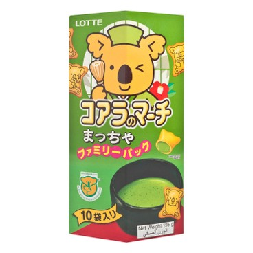 LOTTE - KOALA'S MARCH BISCULT-MATCHA (FAMILY PACK) - 195G