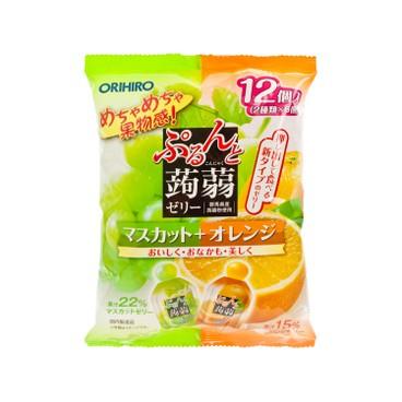 ORIHIRO - 蒟蒻啫喱-橙及提子味 - 240G