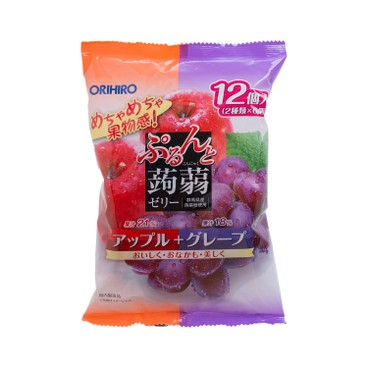 ORIHIRO - 蒟蒻啫喱-蘋果及提子味 - 240G