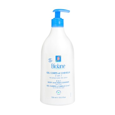 BIOLANE - 2 In 1 Body And Hair Cleanser Soap Free tear Free - 750ML