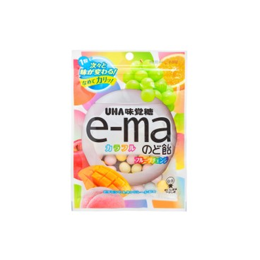 UHA - E-MA糖-七彩什果味 (袋裝) - 50G