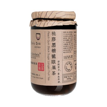 NICOLE'S KITCHEN - Peach Gum Black Sugar Longan Tea - 390G