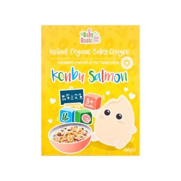 寶寶百味 - 即食有機米米粥 - 昆布三文魚 - 150GX2