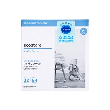 ECOSTORE(PARALLEL IMPORT) - Laundry Powder Fragrance Free - 1KG