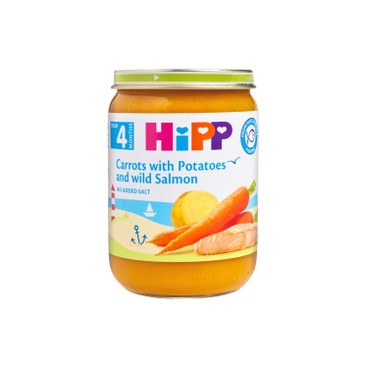 HIPP - Baby Carrots With Potatoes And Salmon - 190G