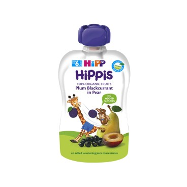 HIPP - Organic Plum blackcurrant In Pear - 100G