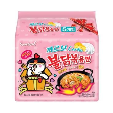 SAMYANG - Carbonara Spicy Chicken Stirred Ramen Korea Version 4 1 Packs - 130GX5