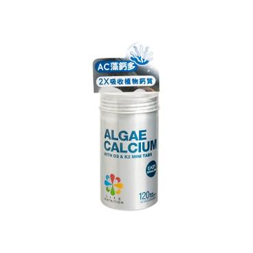 LIFE NUTRITION - Algae Calcium - 120'S