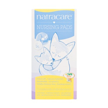 NATRACARE - 有機棉哺乳護理墊 - 26'S