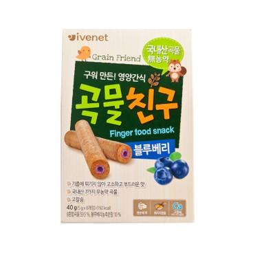 貝貝 - 糙米手指餅-藍莓味 - 40G