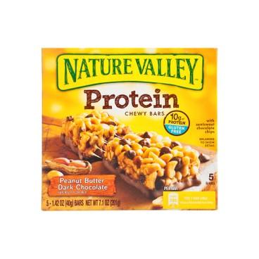 NATURE VALLEY - Protein Bars peanut Butter Dark Chocolate - 40GX5