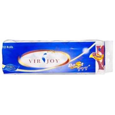 VIRJOY - BEST SAVER ROLL TISSUE - 12'S