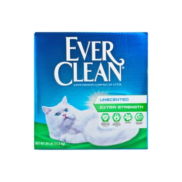 EVER CLEAN - Unscented extra Strength Unscented - 25LB