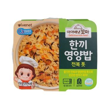 IVENET - Bebe Kid Nutritious One Meal Rice abalone King Oyster Mushroom - 150G