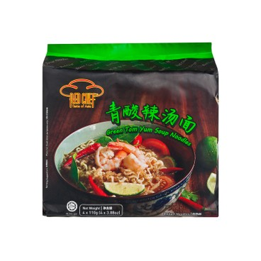 RED CHEF - Soup Noodles green Tom Yum - 110GX4