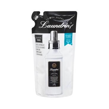 LAUNDRIN - 衣物香水柔順劑補充裝-經典花香 - 480ML