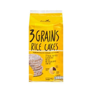 ALLRITE - 有機三穀米餅-糙米,紅米,綠豆 - 76G