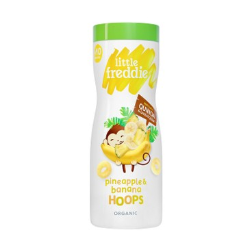 LITTLE FREDDIE - Organic Pineapple Banana Hoops - 42G