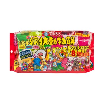 GINBIS - ANIMAL BISCUIT-MIXED FLAVORED - 144G