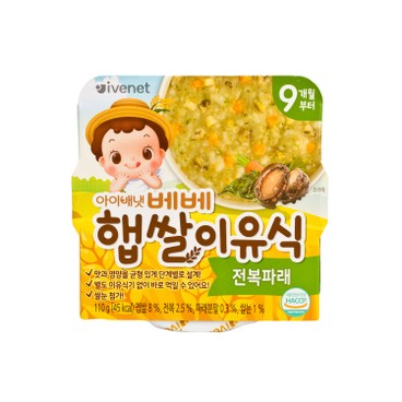 貝貝 - 新米營養粥-鮑魚海苔 - 110G
