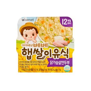 貝貝 - 新米營養粥-雞肉豆腐 - 110G