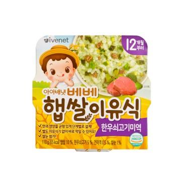 貝貝 - 新米營養粥-牛肉海帶 - 110G